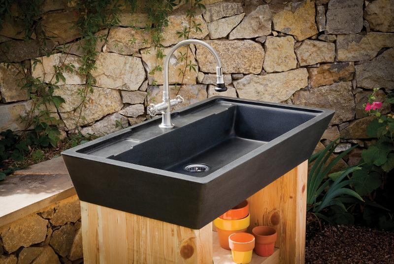 Introducing the newest stone forest designs plumbtile for Outdoor kitchen sink