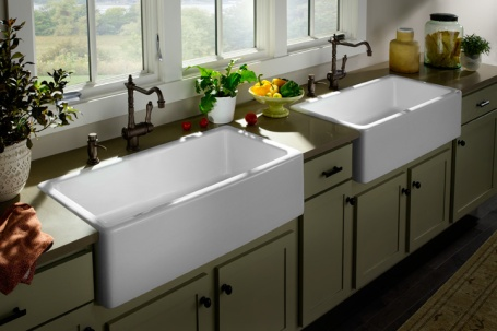 Plumbtile: farm sinks