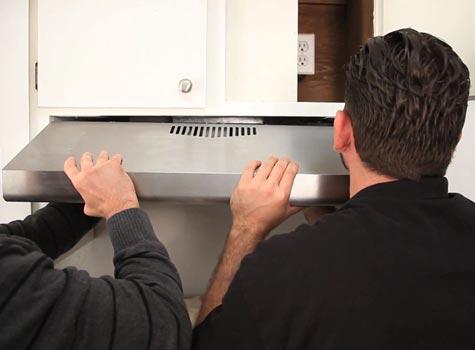 How to install a range hood